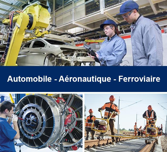 Automobile / Aéronautique / Ferroviaire