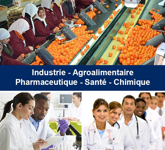 Industrie - Agroalimentaire - pharmaceutique - santé